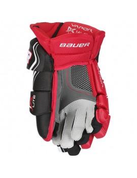 Hokejové rukavice Bauer S18 Vapor 1X LITE SR BLACK RED - ČIERNÁ ČERVENÁ