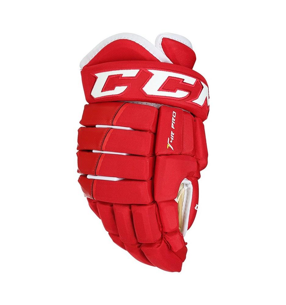 Hokejové rukavice CCM TACKS 4R PRO SR RED-WHT