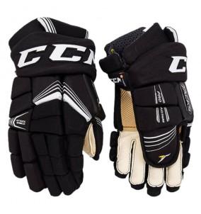 Hokejové rukavice CCM SuperTacks YTH BLK-WHT